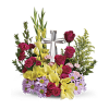 Our Crystal Cross Bouquet premium