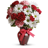 The Hugs And Kisses Bouquet With Red Roses standard