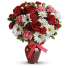 The Hugs And Kisses Bouquet With Red Roses deluxe