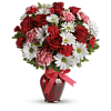The Hugs And Kisses Bouquet With Red Roses premium