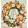 Wreath-Peach/Orange Mix