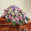 Lavender and White Mixed Casket Spray
