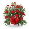 Floor Basket-Red Carnations