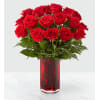 The FTD True Romantic Red Rose Bouquet deluxe