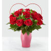 FTD Cupid's Heart Red Rose Bouquet deluxe