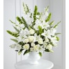 White Urn Floral Tribute deluxe