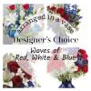 Red, White & Blue Vase Arrangement