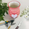Custom Artist Design in Love Tag Vase
