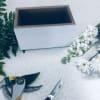 Custom Artist Design in White Wooden Box premium