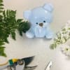 Custom Artist Arrangement in Blue Ceramic Baby Bear