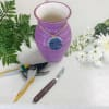 Designer's Choice in Purple Vase with Dragon Fly standard