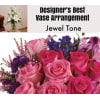 Jewel Tone-Large Vase Arrangement deluxe