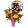 Birthday Bash Bouquet by Teleflora at Bow River Flower Atelier deluxe