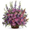 Gracious Lavender Basket Teleflora at Bow River Flower Atelier deluxe