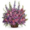 Gracious Lavender Basket Teleflora at Bow River Flower Atelier premium