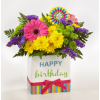 Happy Birthday Brights Bouquet standard