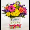 Happy Birthday Brights Bouquet deluxe