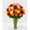 Colored Long Stem Roses deluxe