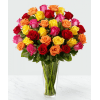 Colored Long Stem Roses premium
