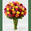 Colored Long Stem Roses premium