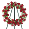 Red Roses Wreath deluxe