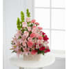 Pink Sympathy Basket by O'Flowers deluxe