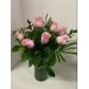 DELUXE PINK ROSES (HALF DOZEN TO 1.5 DOZEN) premium