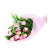 Long-Stemmed Pink Roses Wrapped premium