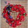 Patriotic Heart Wreath deluxe