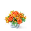 Fresh Tangerine Flower Arrangement premium