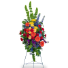 Vibrant Life Standing Spray with Flowers premium