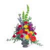 Vibrant Urn with Flowers premium