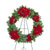 Serene Sanctuary Wreath with Flowers standard