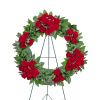 Serene Sanctuary Wreath with Flowers premium