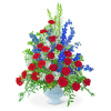 Valiant Honor Urn with Flowers standard