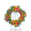 Sunset Reflections Wreath with Flowers premium