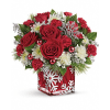Teleflora's Silver Christmas Bouquet deluxe