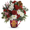Send A Hug Gingerbread Greetings Bouquet deluxe
