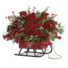 Teleflora's Rosy Sleigh Bouquet deluxe