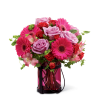 The FTD® Pink Exuberance™ Bouquet premium