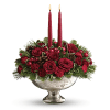 Teleflora's Mercury Glass Bowl Bouquet Centerpiece deluxe