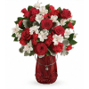 Teleflora's Red Haute Bouquet deluxe