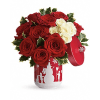 Teleflora's Roses And Holly Bouquet