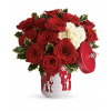 Teleflora's Roses And Holly Bouquet deluxe