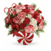 Teleflora's Peppermint Christmas Bouquet premium