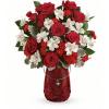 Teleflora's Red Haute Bouquet premium