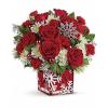 Teleflora's Silver Christmas Bouquet premium