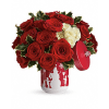 Teleflora's Roses And Holly Bouquet premium