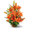 Asiatic Lily Basket deluxe