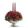 Teleflora's Mercury Glass Bowl Bouquet Centerpiece standard